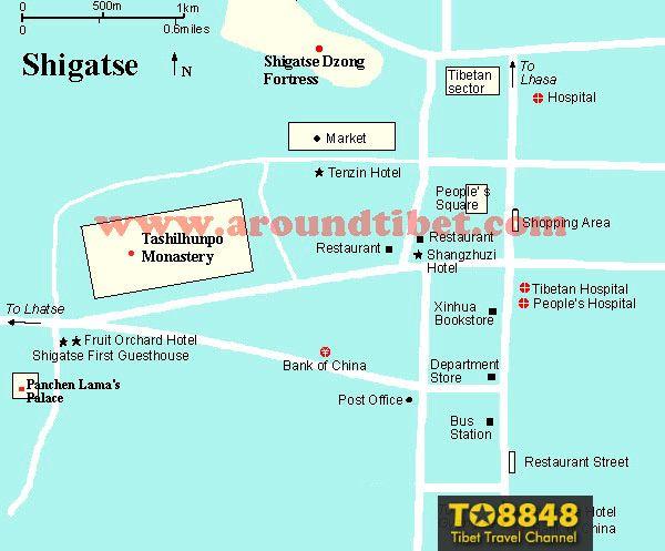 Tibet Shigatse Map