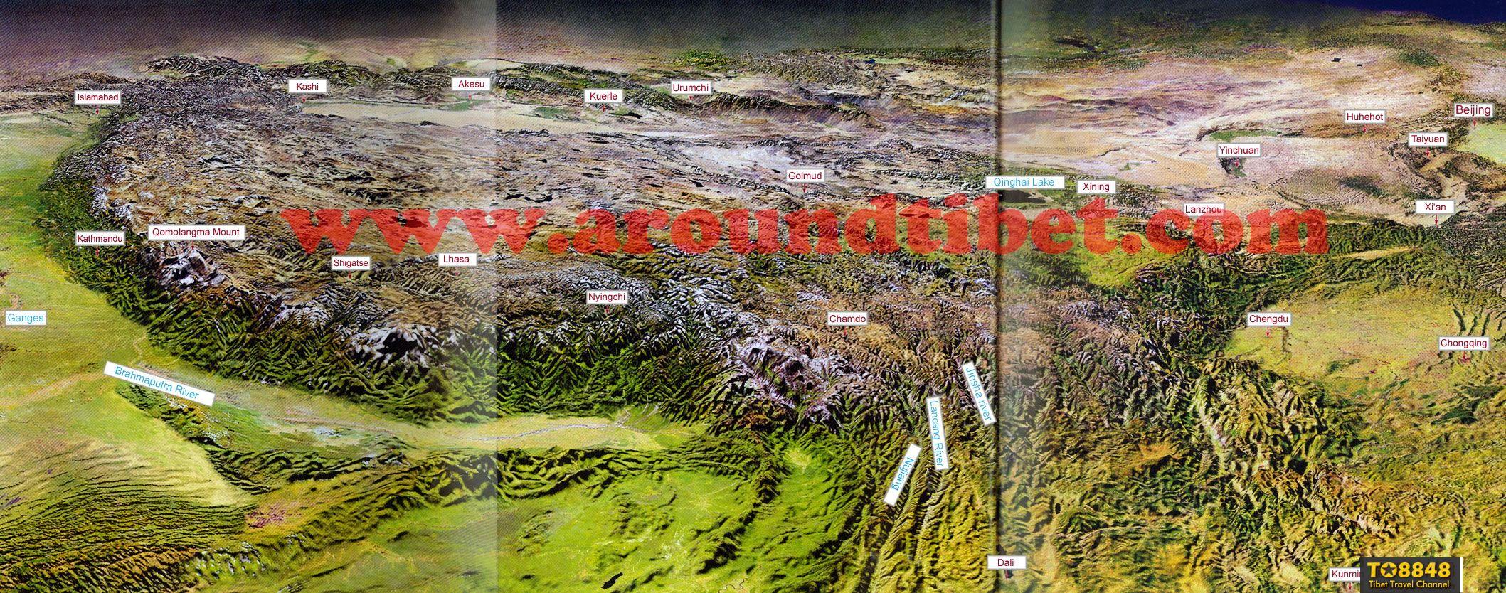 Qinghai-Tibet Plateau map