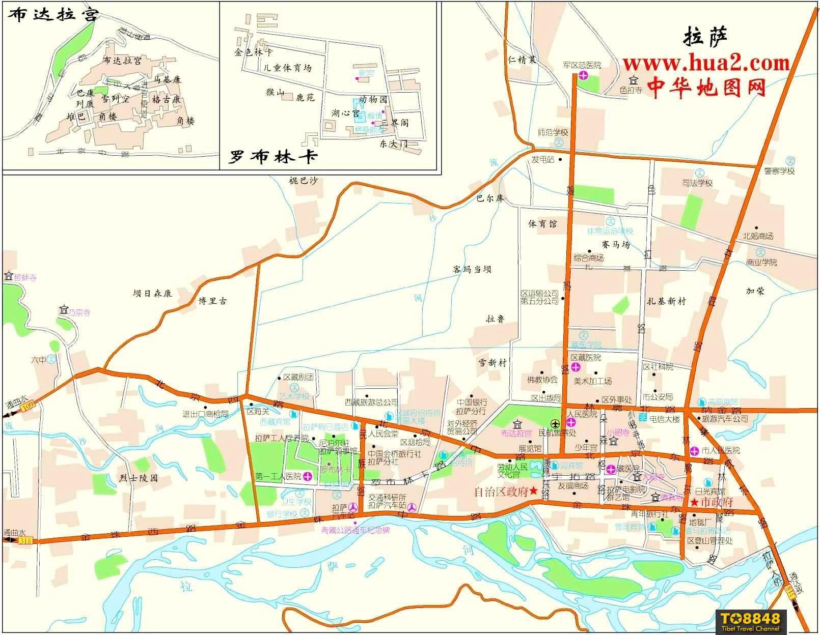 拉萨市区地图