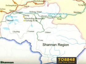 Shannan map(英文版西藏山南地图)