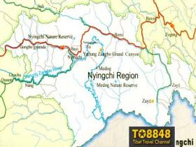 Nyingchi map(英文版西藏林芝地图)