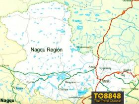 Nagqu map(英文版西藏那曲地图)