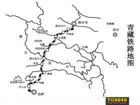 青藏铁路地图