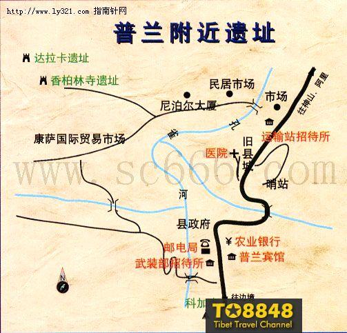 西藏普兰县地图